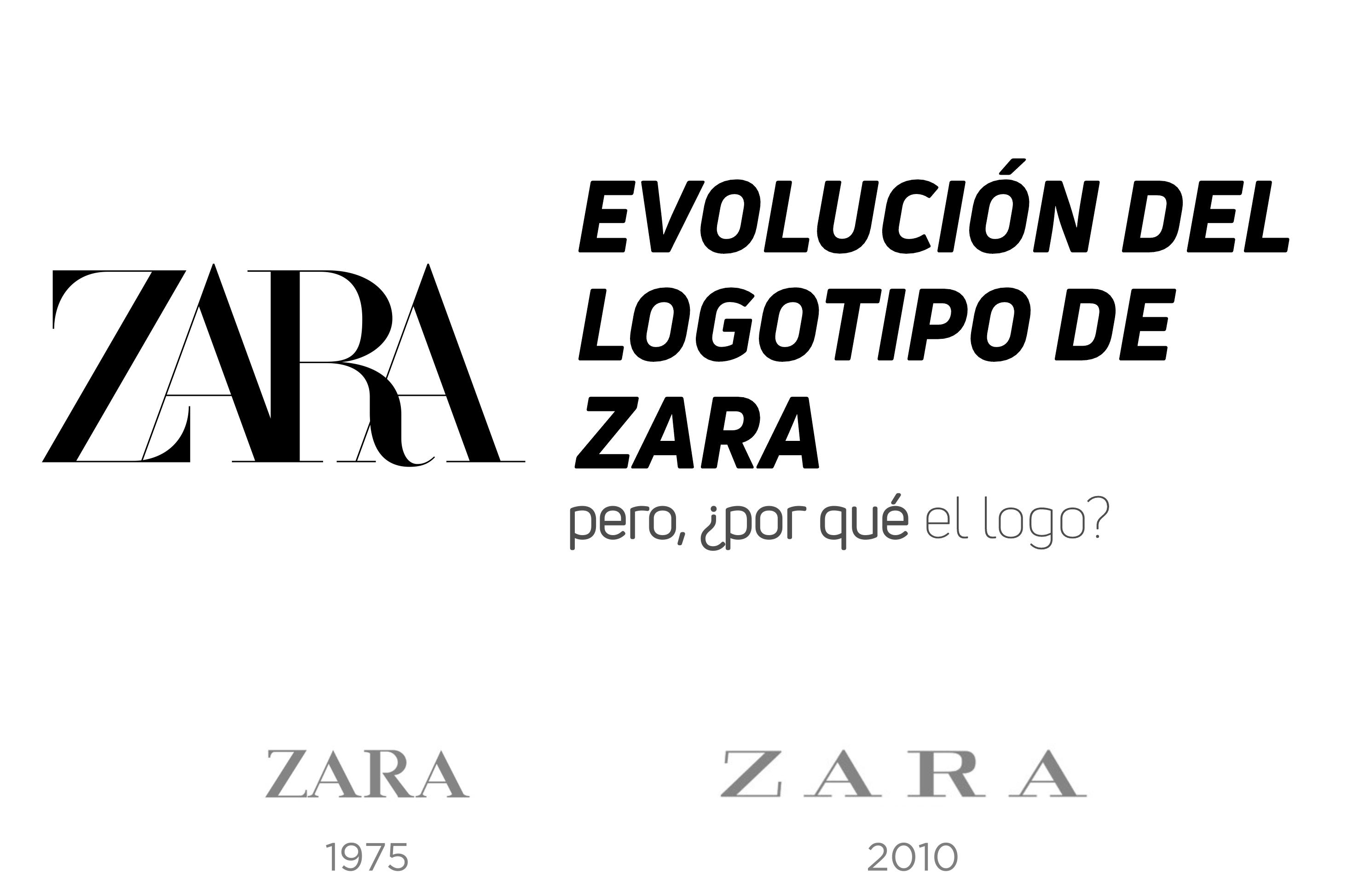 evolucion logo zara rebranding